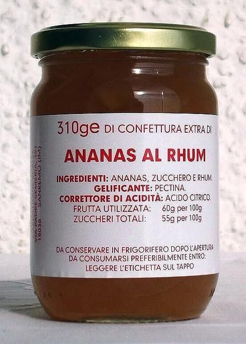 Confettura Extra di ANANAS AL RHUM
