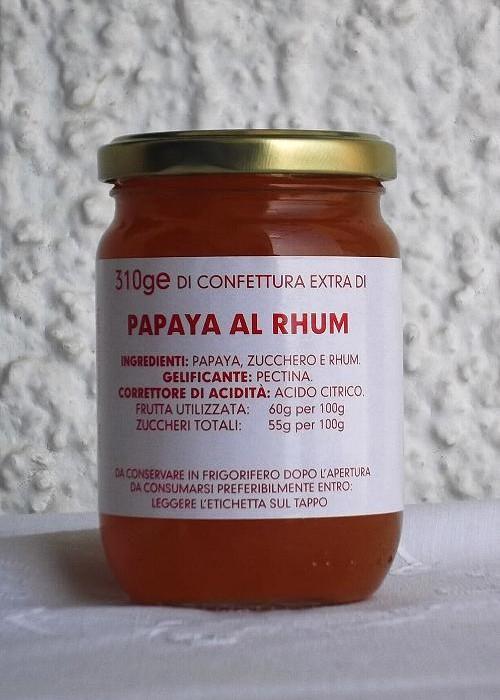 Confettura Extra di Papaya al Rhum