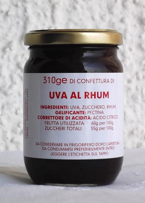 Confettura di Uva al Rhum